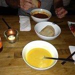salat, bionade, tomatosoup and sweet potato-cocossoup! yum!