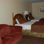 Very spacious hotel room.