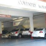 Hotel parking.