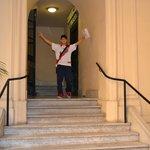 escaleras de ingreso
