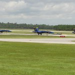 Blue Angels Taxi from the Runway