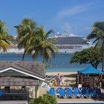 The cruise ship docked at Ocho Rios