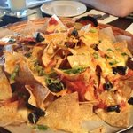 our nacho platter for four... way more than we needed!  excellent!