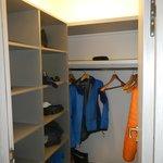 walk-in closet in the fancy room