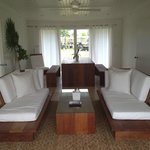 The living room in the villa