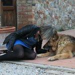 Paola e il cane Buck