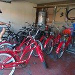 Garagem das bicicletas