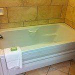 Jetted tub in upgraded room