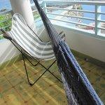 Hammock  on the upstairs balcony