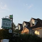 Sign and front of B and B