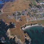 Aerial view of the Mendocino Headlands State Park