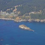 View of Whale Rock from the air