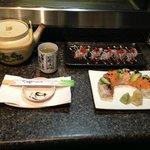 rainbow rolls, takami salad