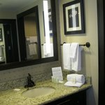 Good bathrom vanity with shower inside
