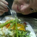 Nice grilled veggie salad...yum!