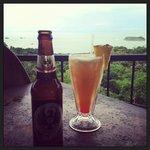 Mai Tai and local brew.