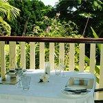 Table on the verandah