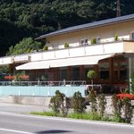 Das Restaurant  mit Außensitzplätzen