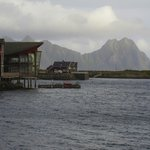 The view of the Rica Hotel from Svolvaer town