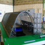 Maquette du hangar dans le musée