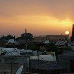 Atardecer en Marrakech, vista desde la terraza del Riad