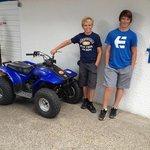 two happy quad bike pilots