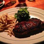 Perfect done NY Strip Steak