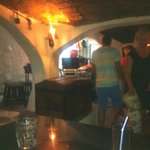 inside the cave bar which was about 1 minute away from our apartment