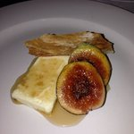 Figs, goat cheese and a sherry syrup