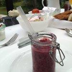 Refreshing smoothie at breakfast
