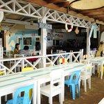 Beachfront restaurant.