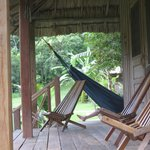 The verandah of our cabana at LaMilpa