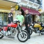 Vintage motorbikes and journalist this spring