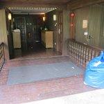 Trash at the room entrance