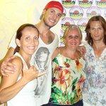 Una noche agradable con Adriano, Roberto y Cristina