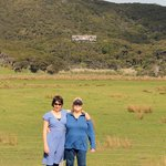 mother and daughter escape , Mt St Paul sits overlooking Claris and the windswept sand dunes and