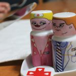 Hillary and Peters delightful sense of humour...our randy salt and pepper shakers!  (c) digiadve