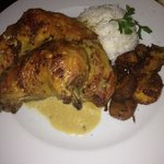 grilled chicken with rice and plantains €16.80