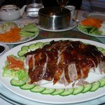 The carved Peking duck