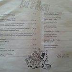 Kids' menu