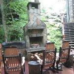 Fireplace by creek