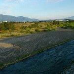 釜無川から甲斐駒ヶ岳、八ヶ岳と続く