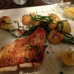 Amazingly cooked fish and potato side...