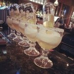 Mexican Bulldog! Frozen margarita spiked with an upside down Corona, perfection!