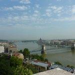 Vue sur le Danube de la colline de Buda