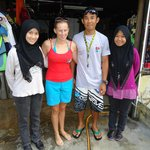 with our instructor