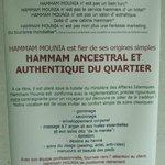 Le CREDO de HAMMAM MOUNIA