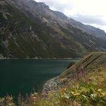 la vista sul lago di Livigno