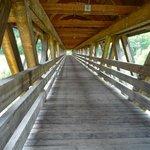il ponte in legno per entrare nel sito