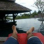 En la piscina de este precioso hotel